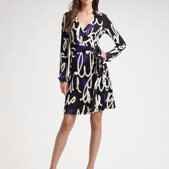 edac01d2716 Diane Von Furstenberg Dresses & Skirts - DVF wrap Dress LOVE IS LIFE  graffiti sz 10